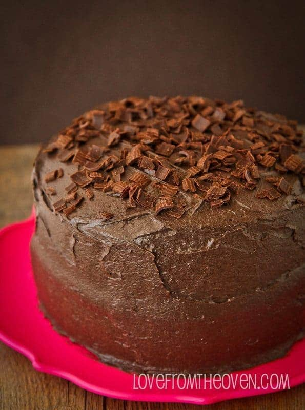 Dark Chocolate Cake With A Hint Of Coffee