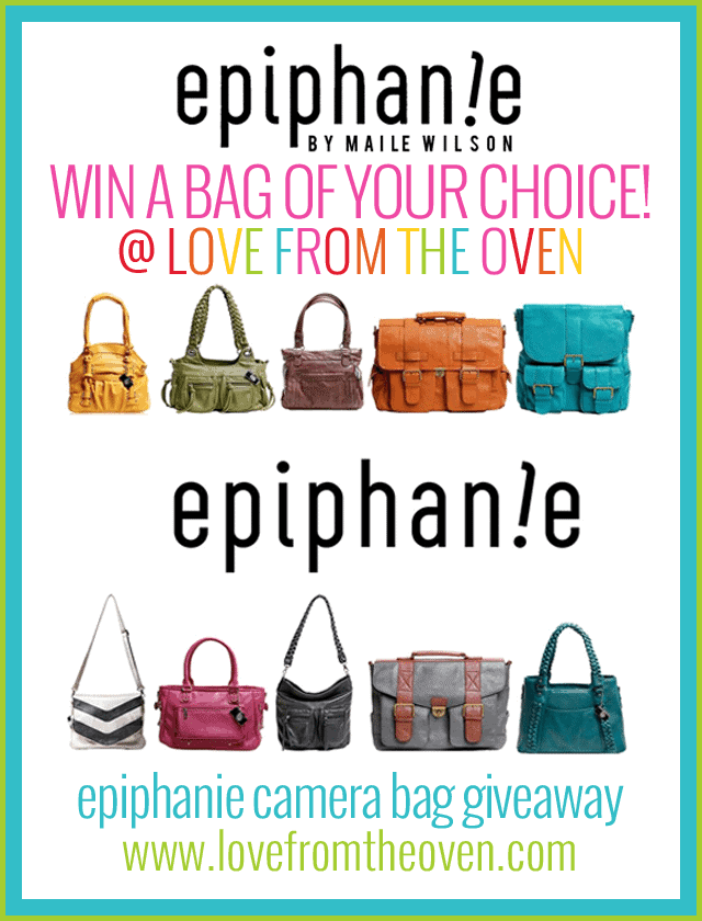 Epiphanie Camera Bag Giveaway at Love From The Oven
