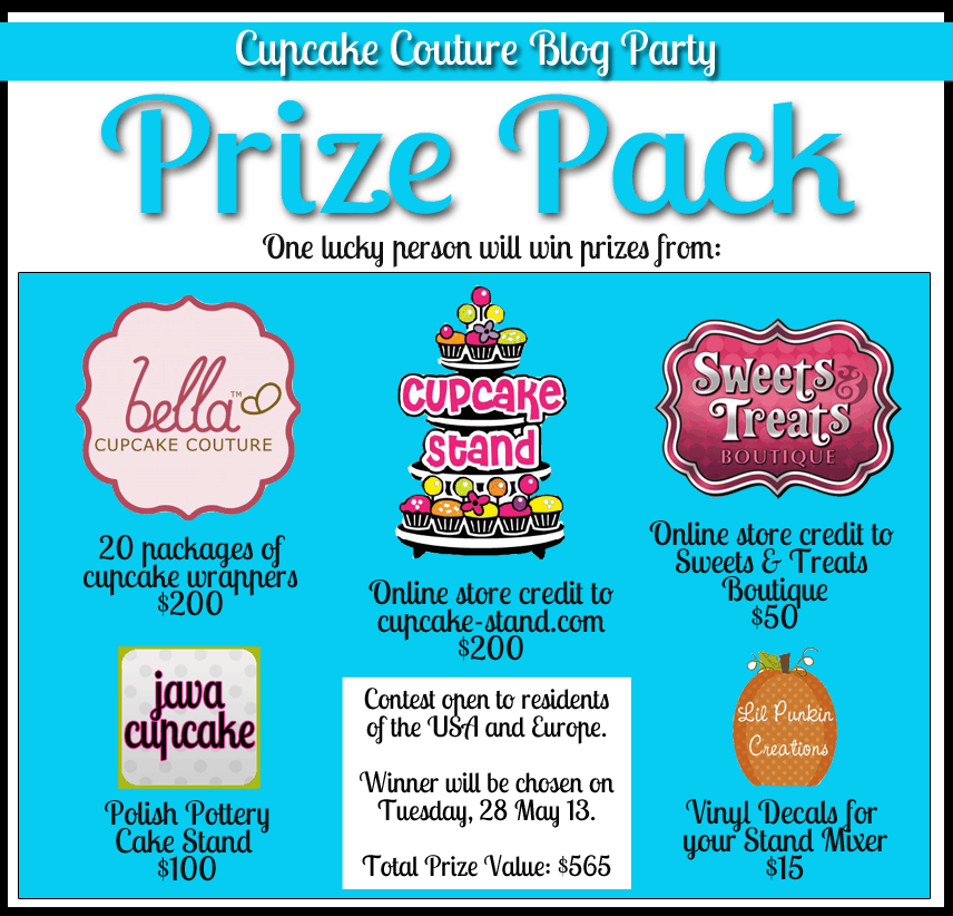 Cupcake Couture Blog Party Giveaway
