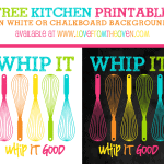 Free Kitchen Printable Sign