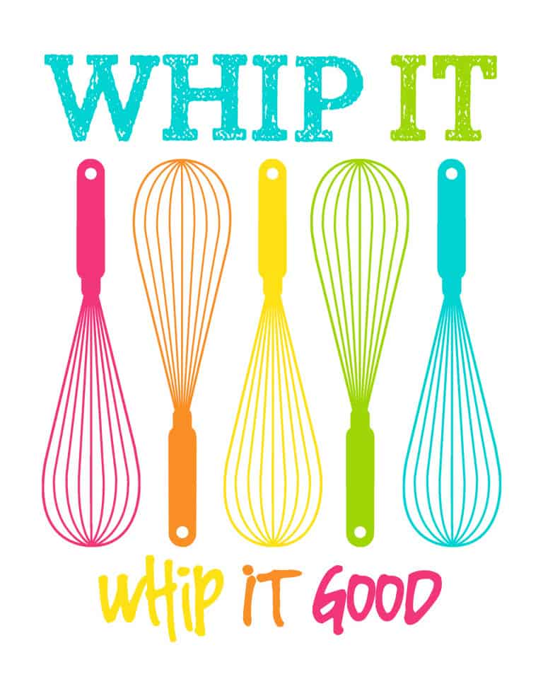 Whip It Good Printable by Love From The Oven - Love From The Oven