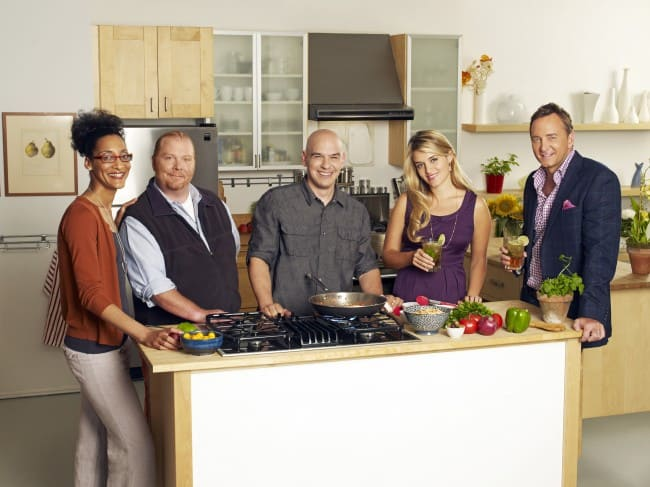CARLA HALL, MARIO BATALI, MICHAEL SYMON, DAPHNE OZ, CLINTON KELLY