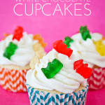 Gummy Bear White Chocolate Cupcakes