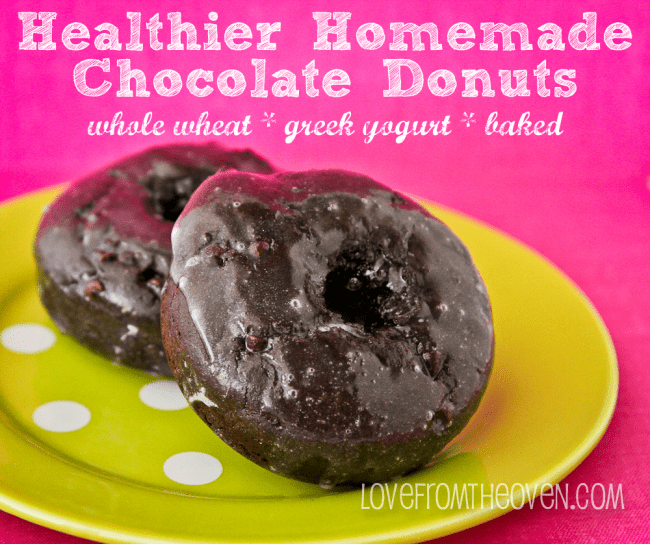 Chocolate Donuts Made With Whole Wheat And Greek Yogurt
