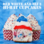 Red, White And Blue Hi-Hat Cupcakes For The Fourth Of July
