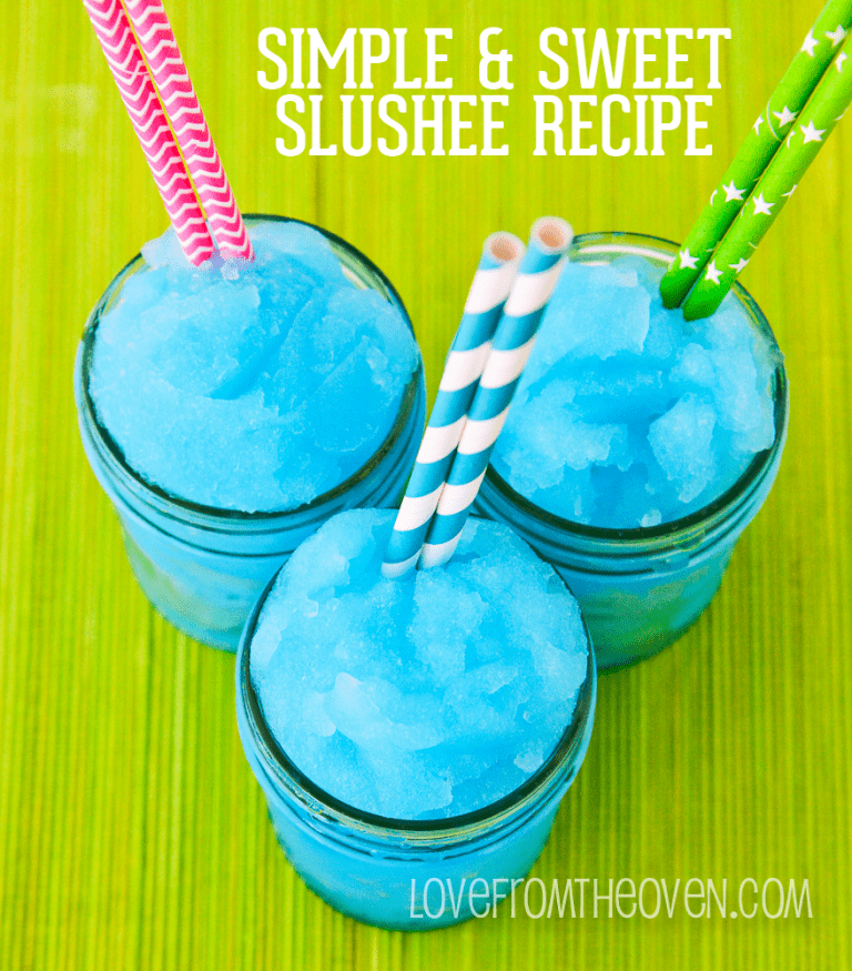 Simple And Sweet Slushee Recipe by Love From The Oven
