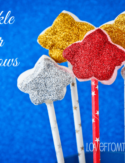 Sparkle Star Marshmallow Pops