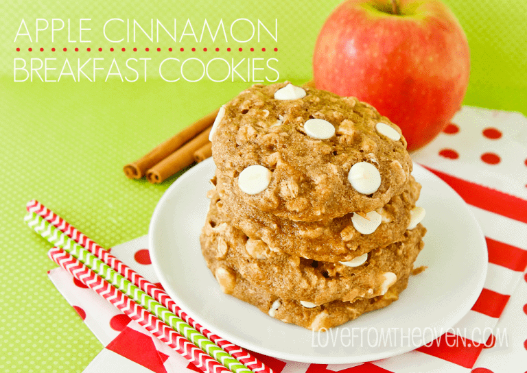 Apple Cinnamon Breakfast Cookies at Love From The Oven