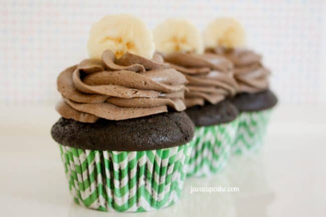 Dark Chocolate Banana Cupcakes by JavaCupcake