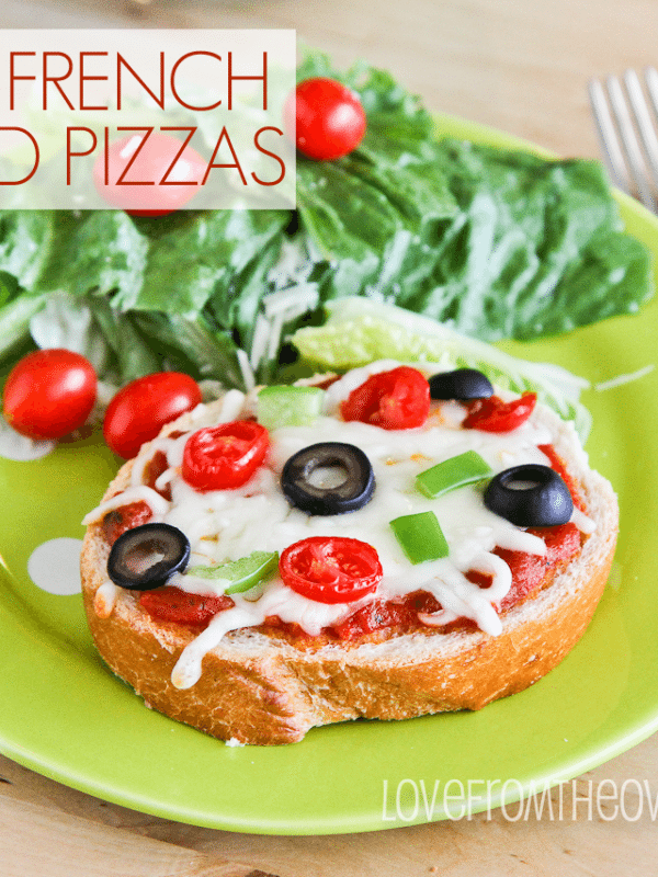 Easy French Bread Pizzas