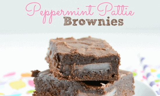 Peppermint Pattie Brownies