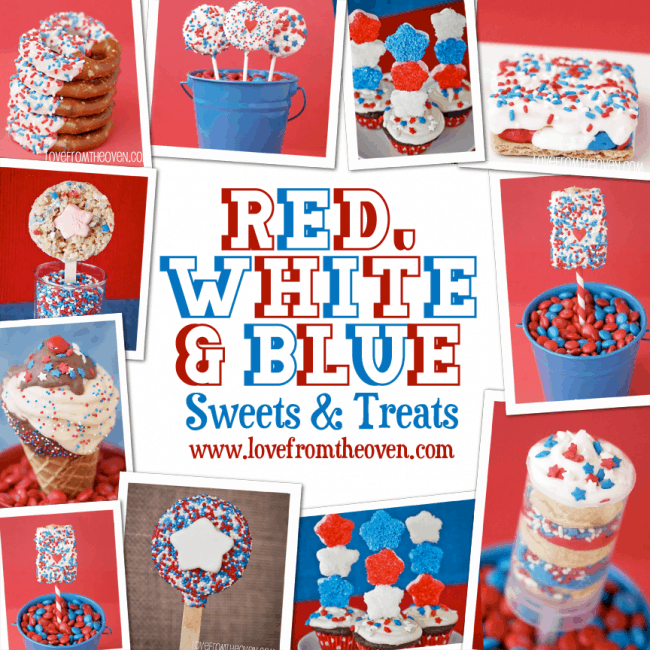 Easy Red White And Blue Treats for the 4th Of July