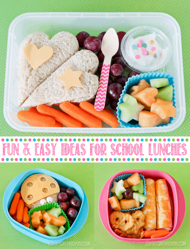 fun and easy school lunch ideas love from the oven