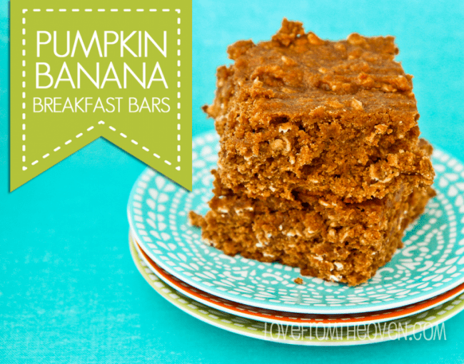 Pumpkin Banana Breakfast Bar Recipe at Love From The Oven