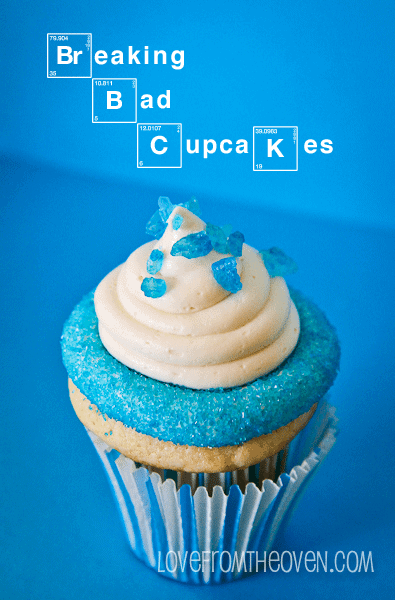 Blue Cupcakes for Breaking Bad