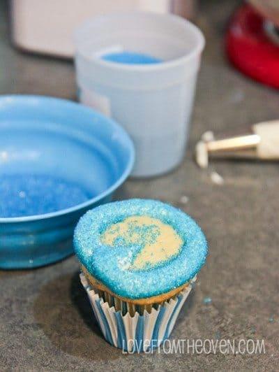 Blue Sugar Cupcakes