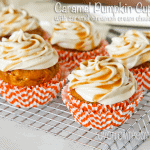 Caramel Pumpkin Cupcakes With Caramel Cinnamon Cream Cheese Frosting