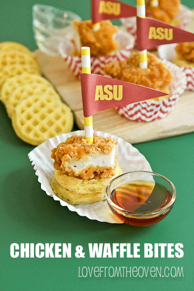 Game Day Chicken And Waffle Appetizers