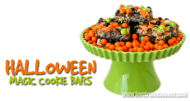 Halloween Cookie Bars