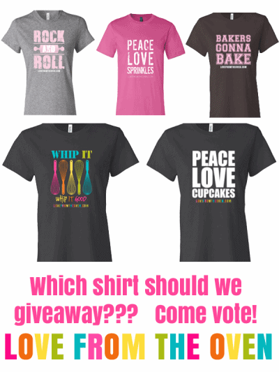 Love From The Oven T-Shirt Giveaway