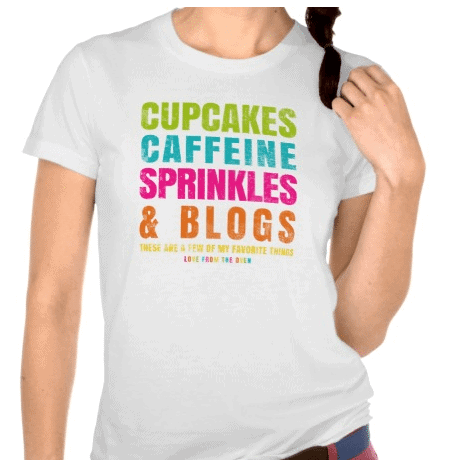 Cupcakes And Caffeine Tshirt