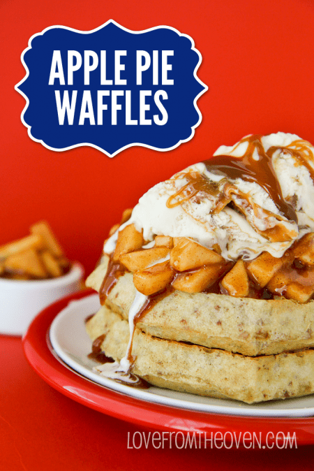 Apple Pie Waffles at Love From The Oven