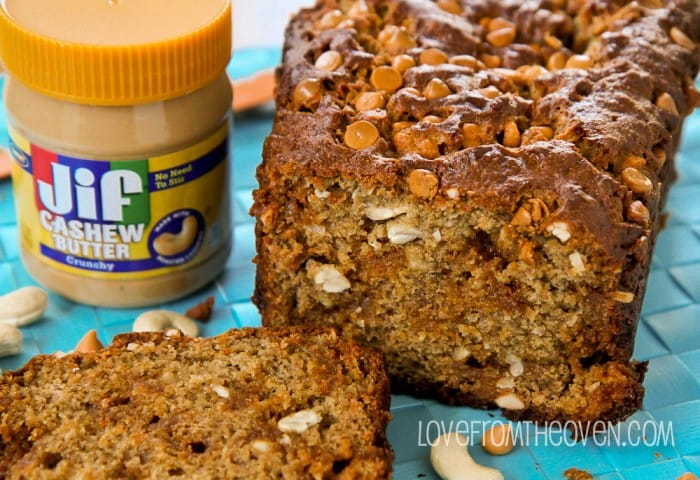 Banana Butterscotch Cashew Bread