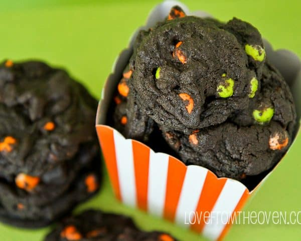 Chocolate Chocolate Halloween Cookies