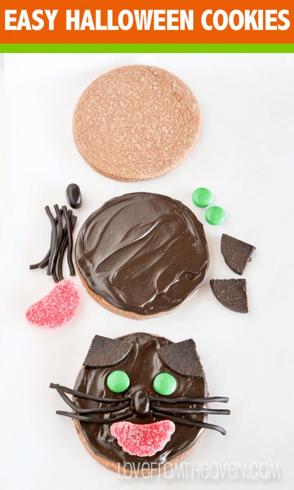 Super easy Halloween Cookie ideas.