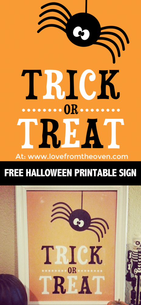 Free Halloween Printable Sign - Love From The Oven