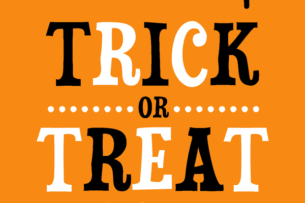 halloween signs no trick or treat