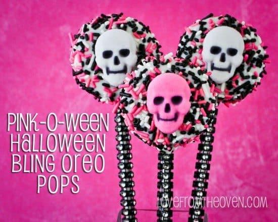 Pink-O-Ween Cookie Pops