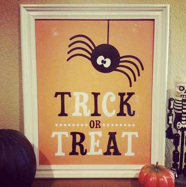Trick or Treat Art by Love from the Oven