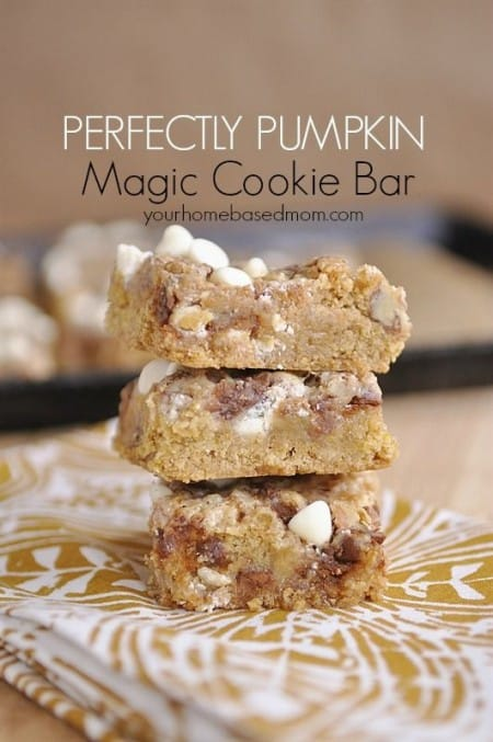 Pumpkin Magic Cookie Bar Recipe