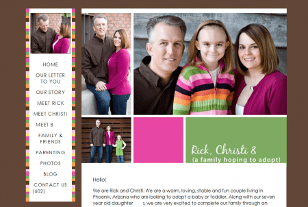 Adoption Website Sample