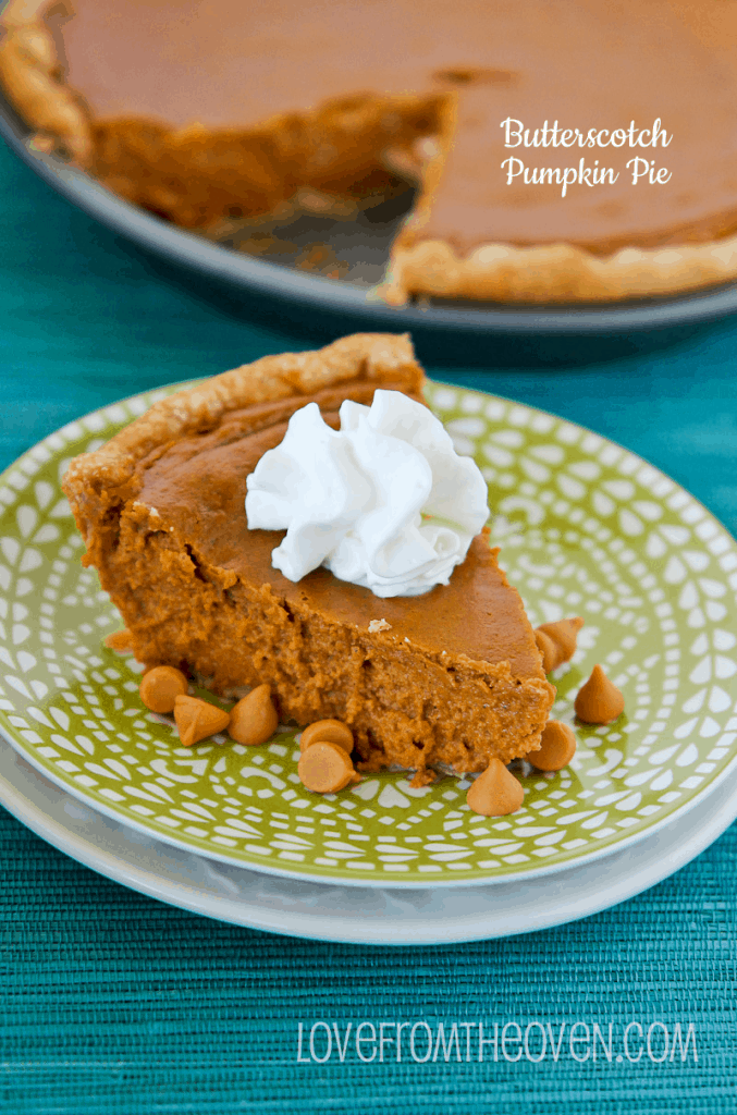 Butterscotch Pumpkin Pie Recipe