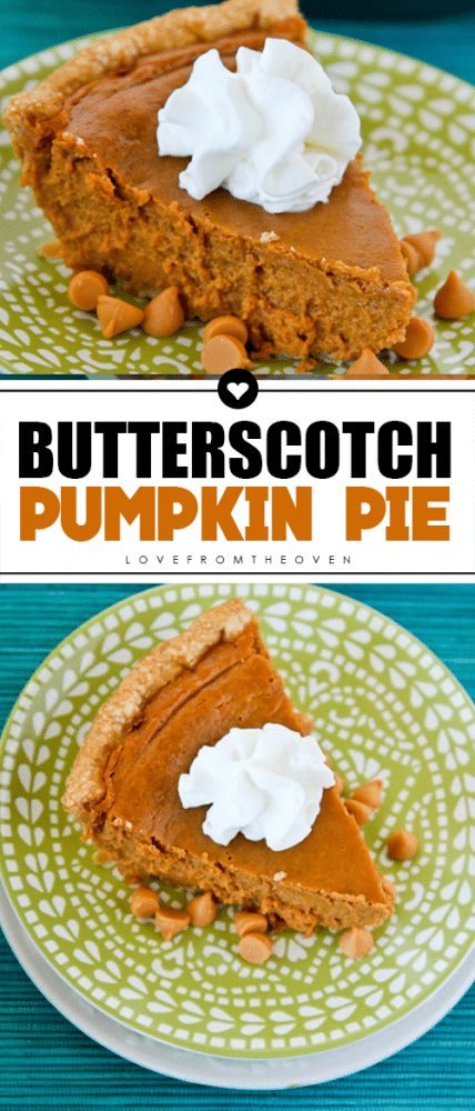 Butterscotch Pumpkin Pie #pumpkinpie #creativepumpkinpie #butterscotchpie