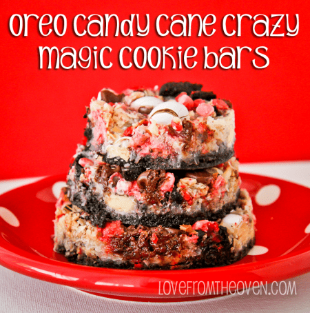 Candy Cane Oreo Magic Cookie Bars