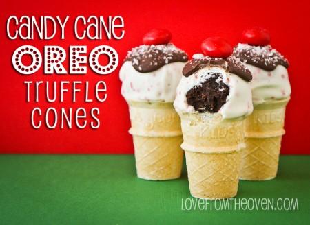 Candy Cane Oreo Truffles