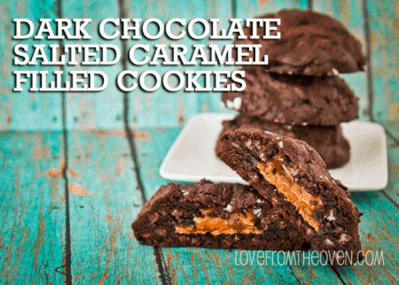 Chocolate And Salted Caramel Cookies