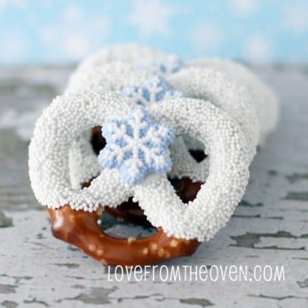 Chocolate Covered Christmas Pretzels