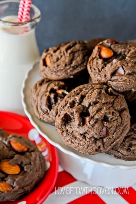 Dark Chocolate Almond Cookies-12