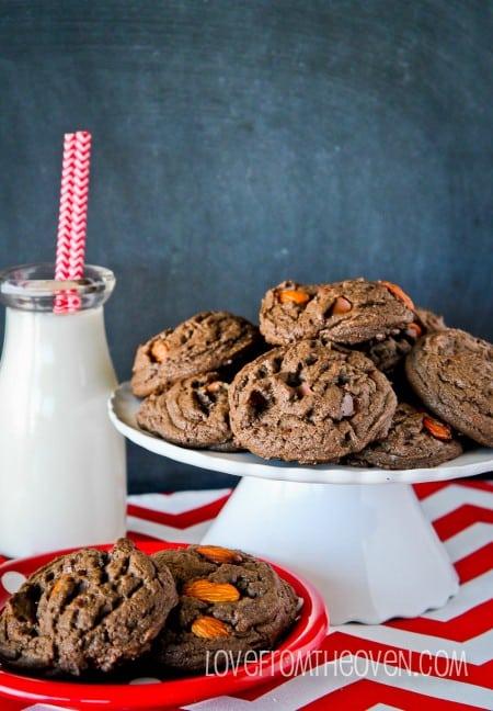 Dark Chocolate Almond Cookies-13
