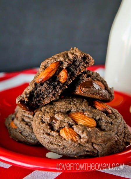 Dark Chocolate Almond Cookies-14