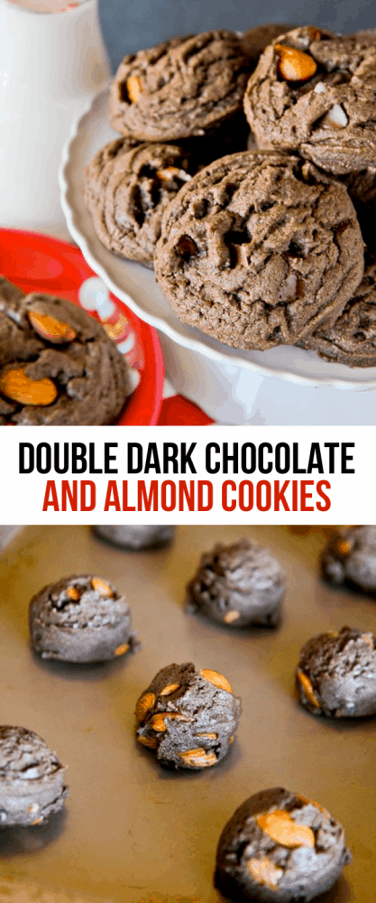 Double Dark Chocolate And Almond Cookies