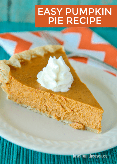 Super easy pumpkin pie recipe.