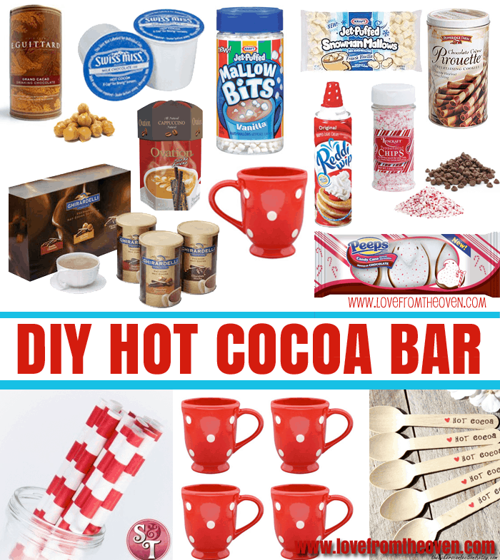 Setting up an easy hot cocoa bar love from the oven for Things in a coffee bar