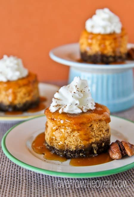 Pumpkin Cheesecakes