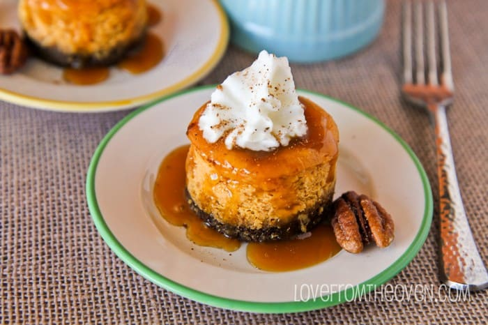 Mini Pumpkin Cheesecakes With Gingersnap Crust-6