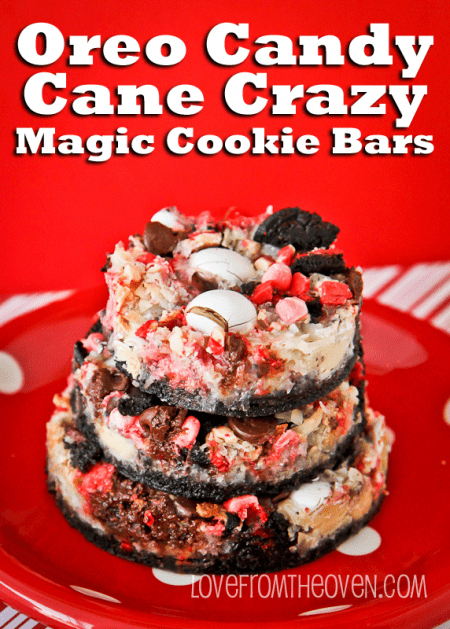 Candy Cane Magic Cookie Bar Recipe